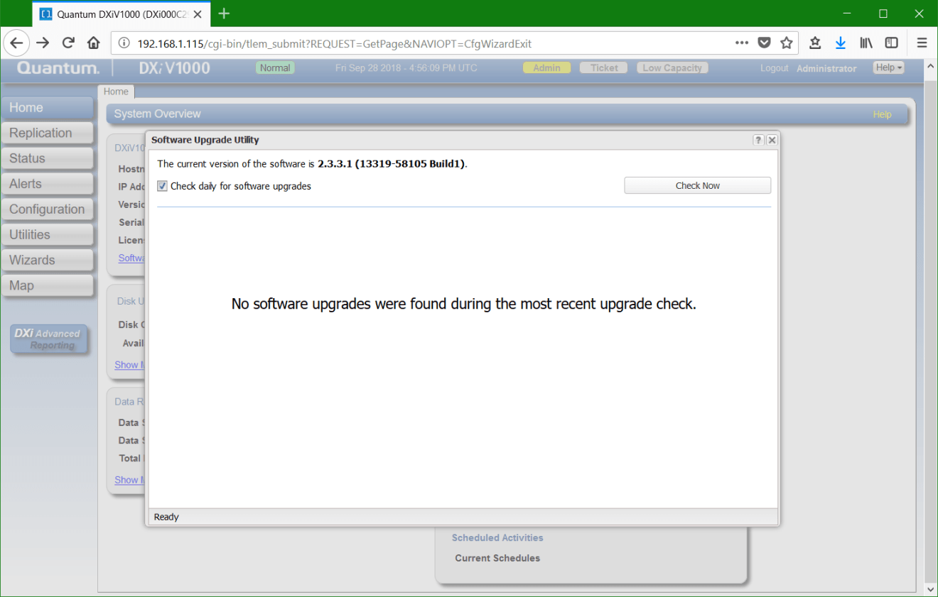 domalab.com update Quantum DXi software upgrade