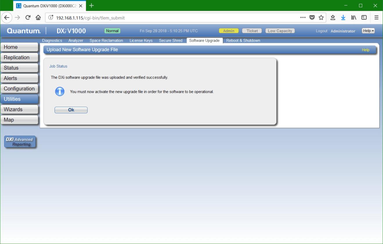 domalab.com update Quantum DXi install