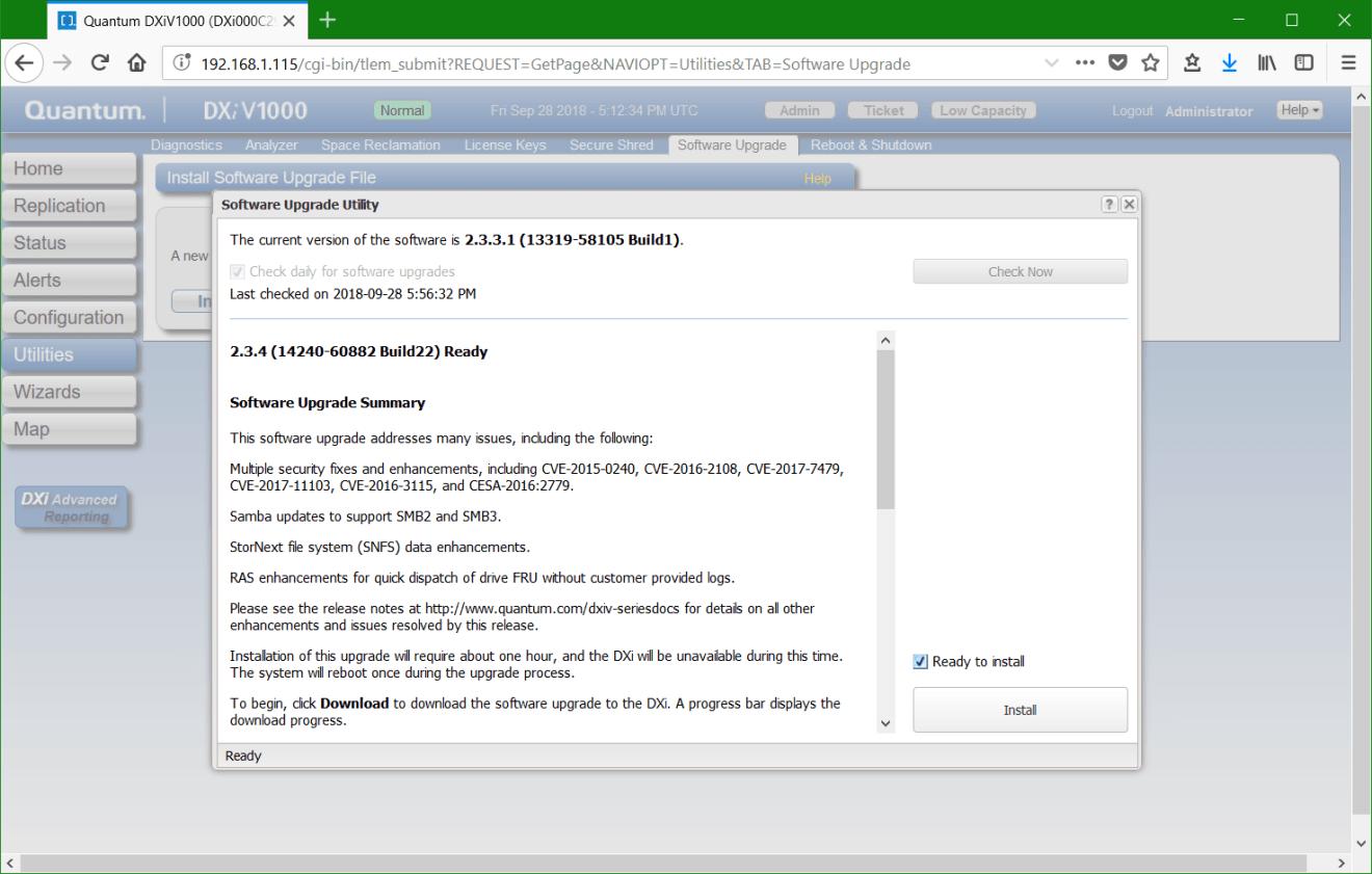 domalab.com update Quantum DXi software