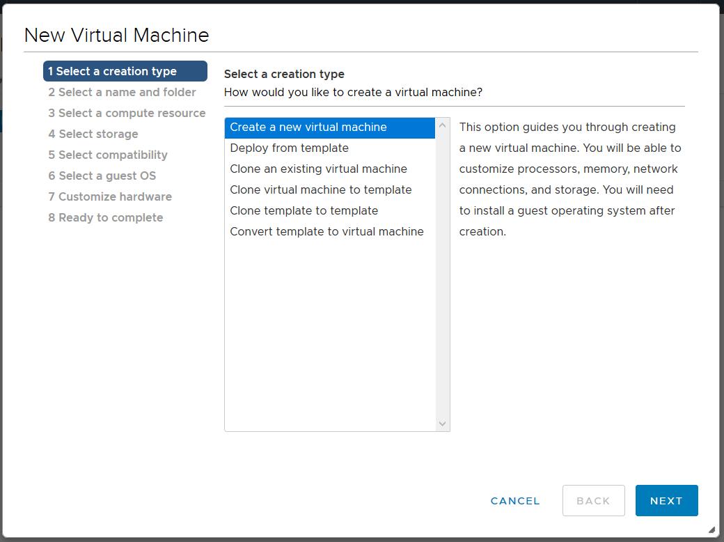 domalab.com Linux CentOS 7 install create a new machine