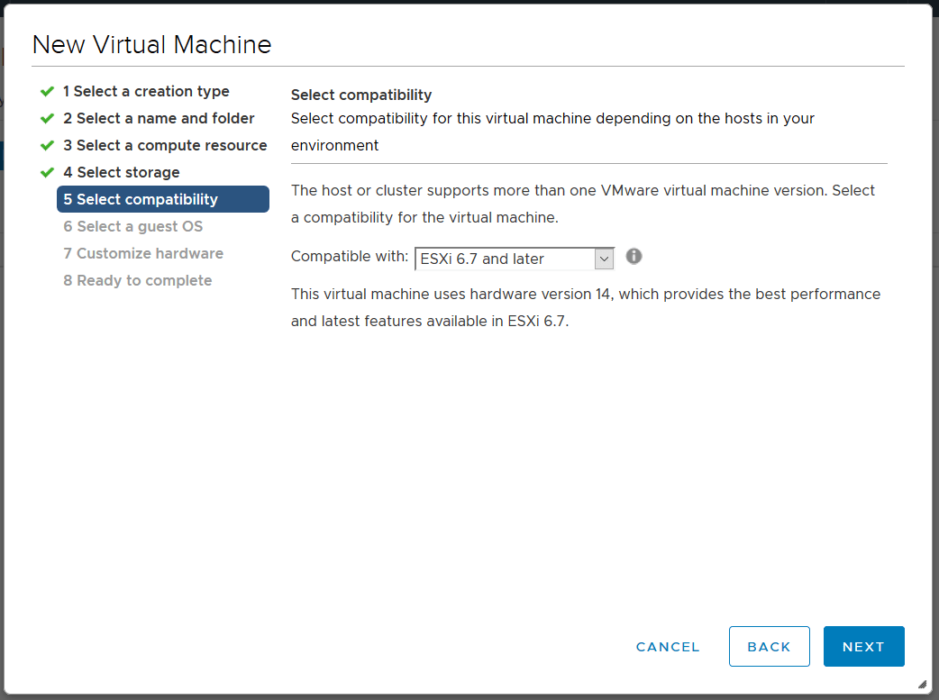 domalab.com Linux CentOS 7 install vmware select compatibility