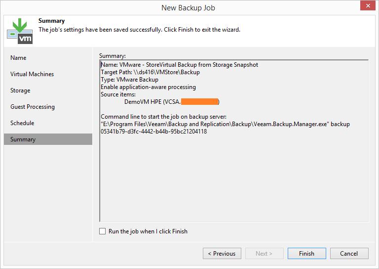 domalab.com HPE StoreVirtual Backup veeam summary