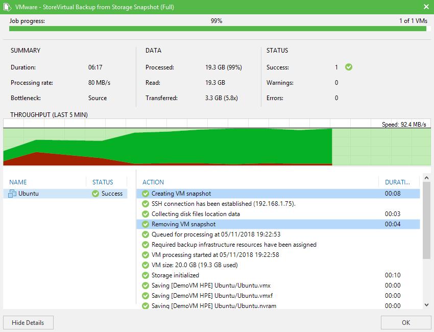 domalab.com HPE StoreVirtual Backup vm snapshot