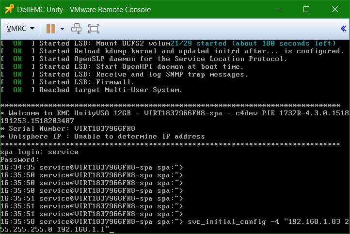 domalab.com Dell EMC Unity VSA login