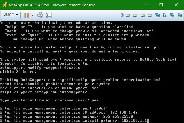 domalab.com Install NetApp ONTAP node management IP