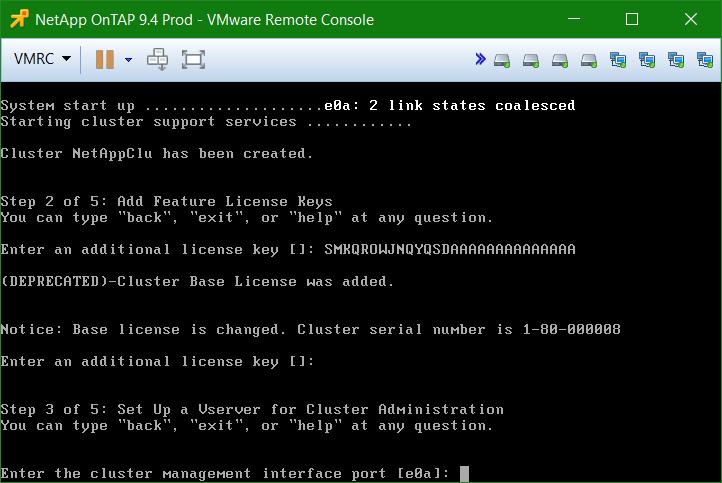 domalab.com Install NetApp ONTAP cluster management interface