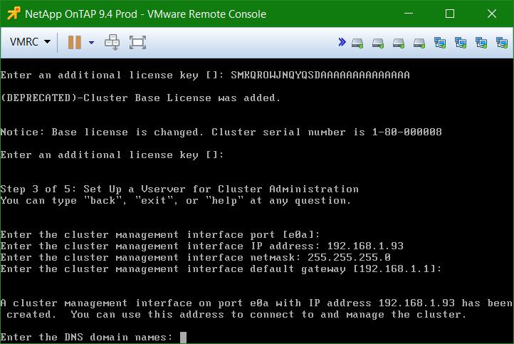 domalab.com Install NetApp ONTAP DNS configuration