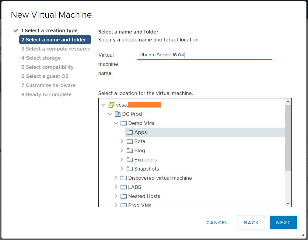 domalab.com deploy Ubuntu Server name VMware