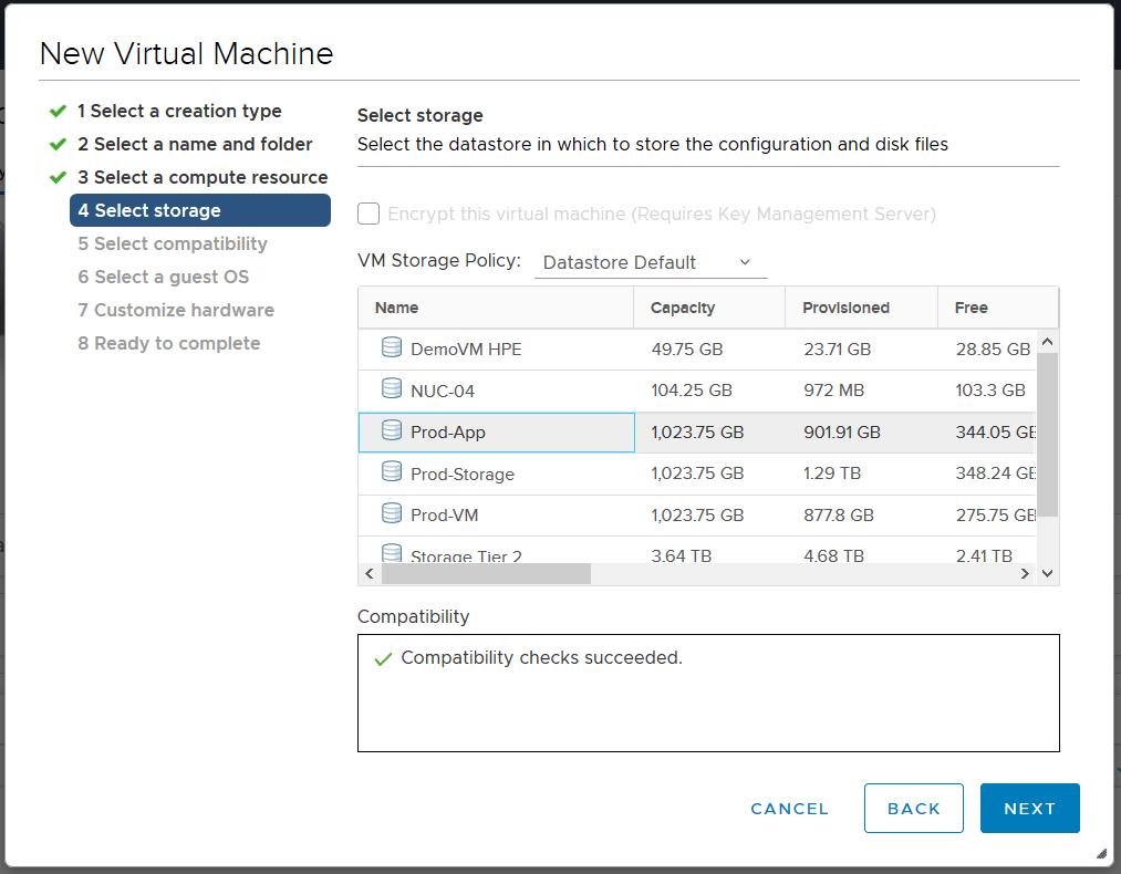domalab.com deploy Ubuntu Server VMware select storage