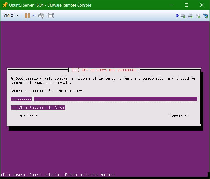domalab.com Install Ubuntu Server VMware setup password