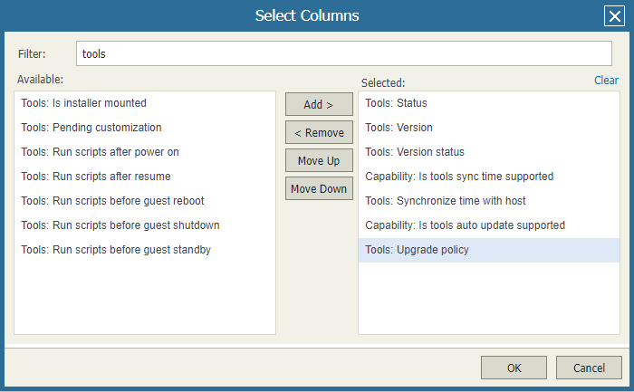 domalab.com VMware Tools Report veeam one choose fields