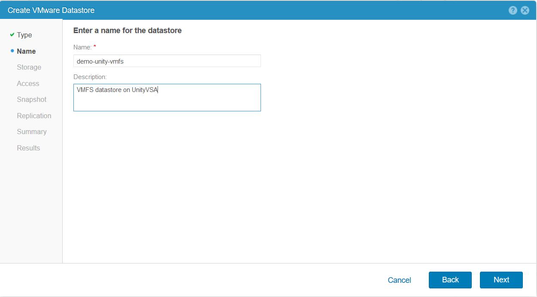 domalab.com Dell EMC Unity storage datastore name