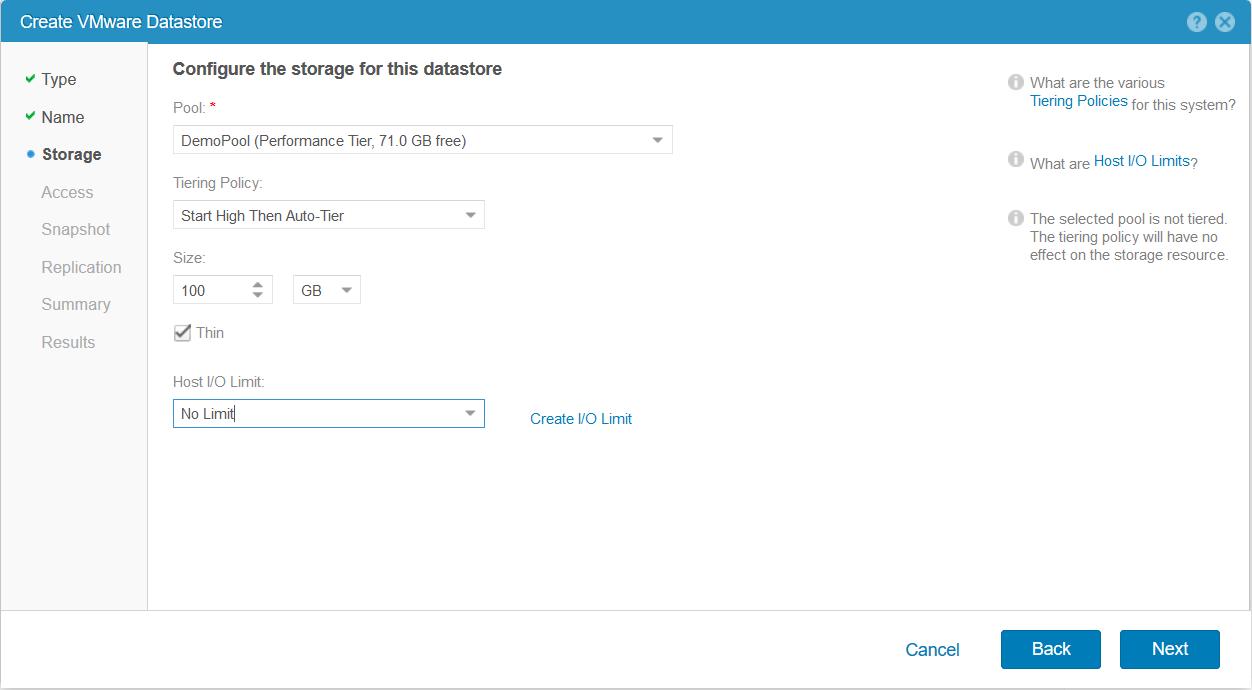 domalab.com Dell EMC Unity storage datastore size