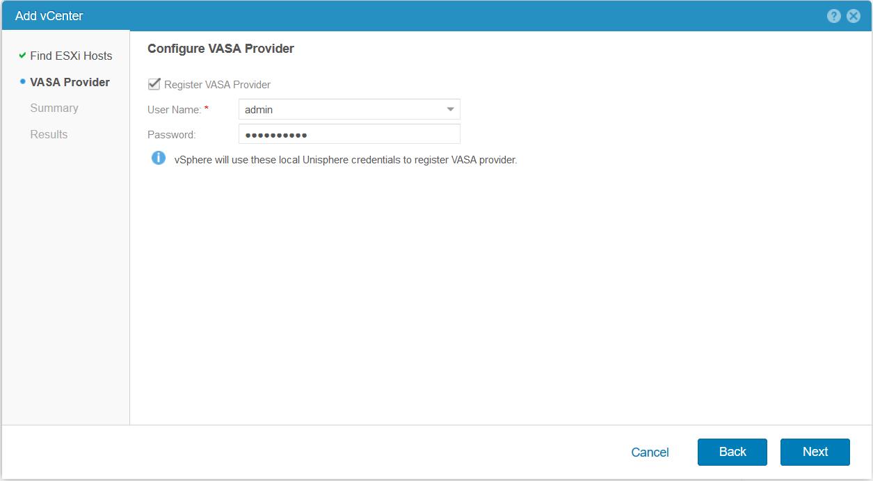 domalab.com Dell EMC Unity access VMware VASA Provider