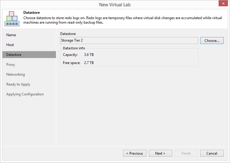domalab.com Veeam Datalabs virtual lab datastore