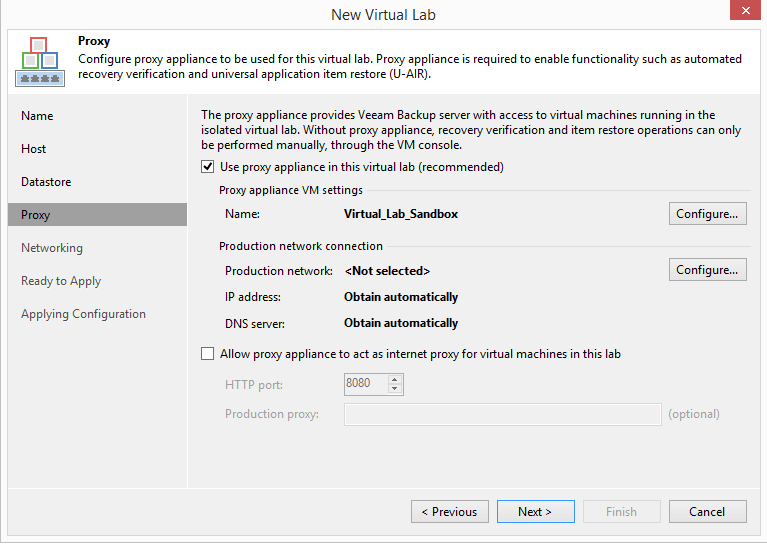 domalab.com Veeam Datalabs virtual lab proxy