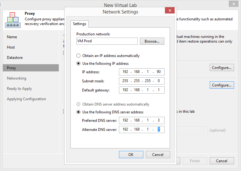 domalab.com Veeam Datalabs virtual lab proxy network