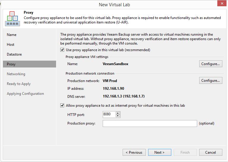 domalab.com Veeam Datalabs virtual lab proxy web
