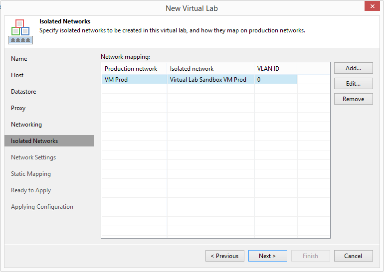 domalab.com Veeam Datalabs virtual lab isolated network