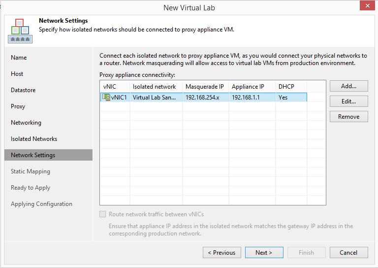 domalab.com Veeam Datalabs virtual lab network settings