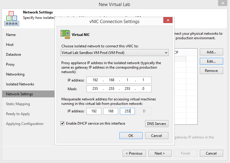 domalab.com Veeam Datalabs virtual lab network masquerade