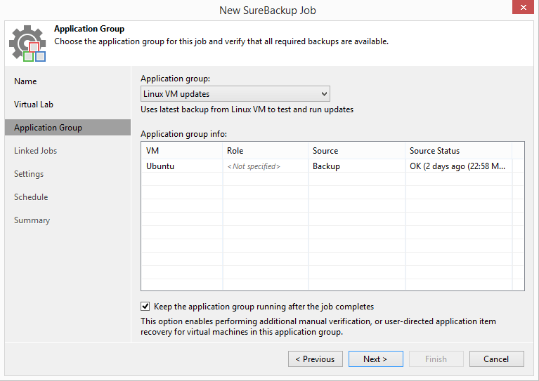 domalab.com Veeam Sandbox on-demand application group