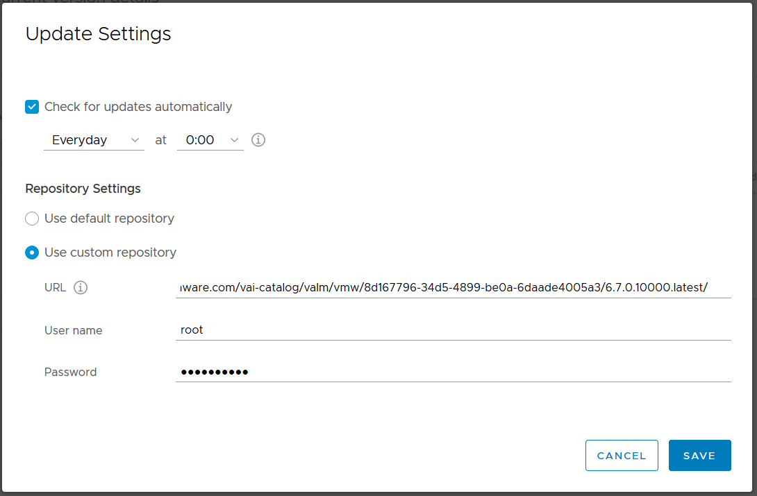 domalab.com VMware VCSA update custom repository