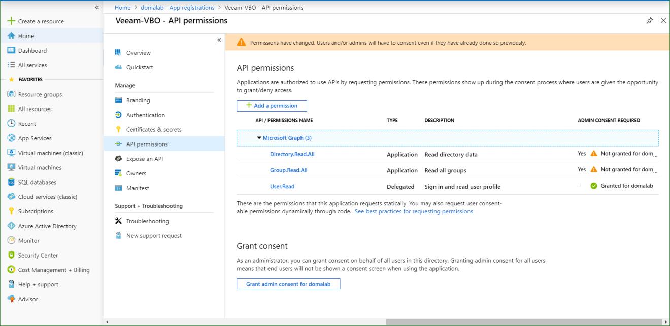 domalab.com Azure App Registration