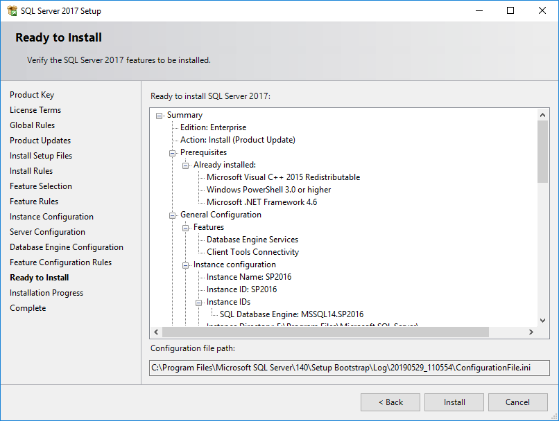 Install SQL 2017 ready for SharePoint 2016 deployment » domalab