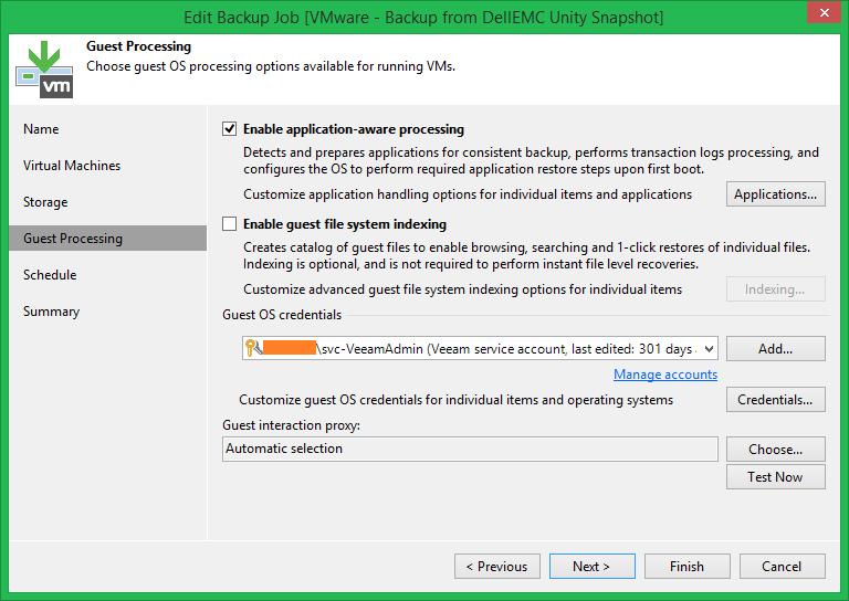 domalab.com Veeam DellEMC Unity Backup