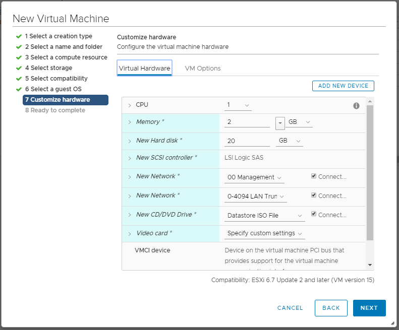 domalab.com deploy pfSense in VMware