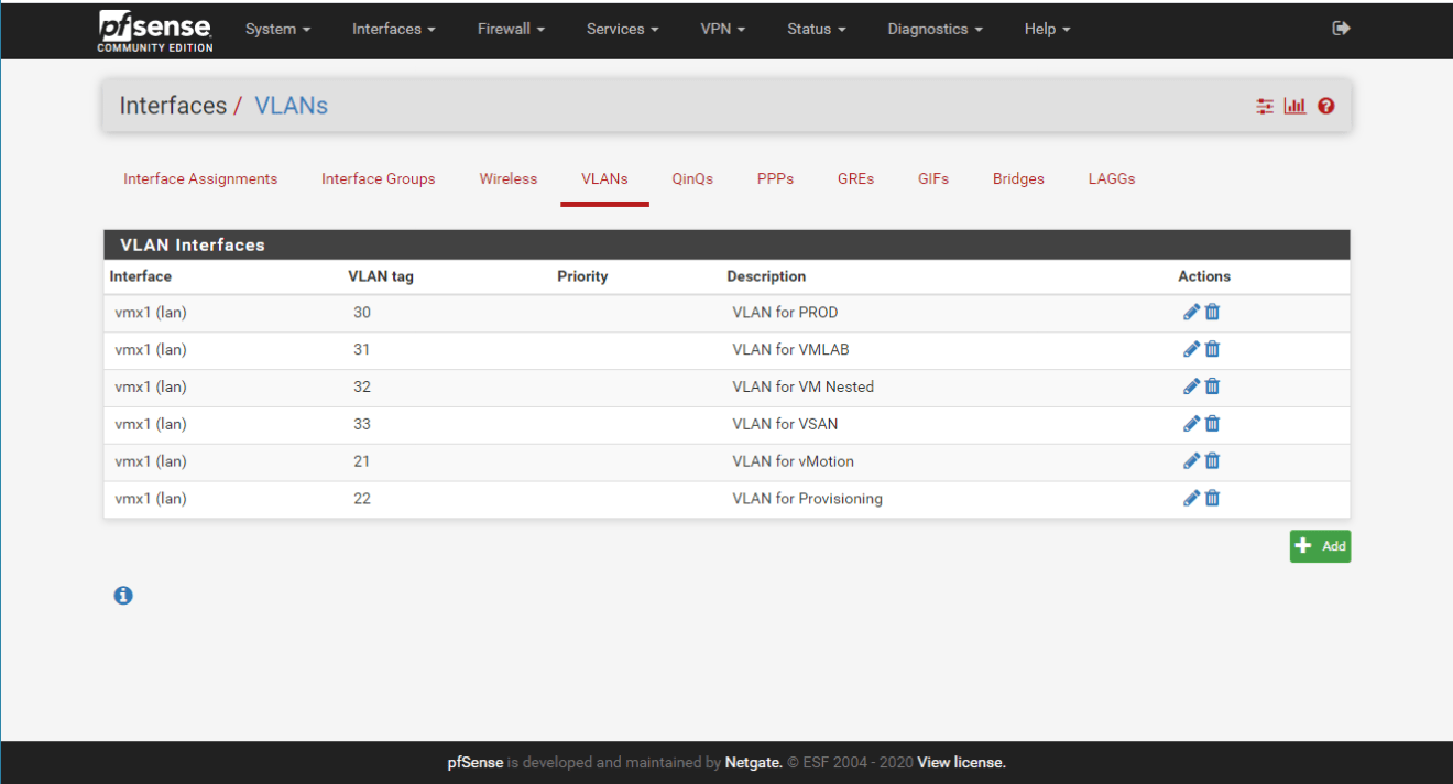 domalab.com pfSense interface setup vmware
