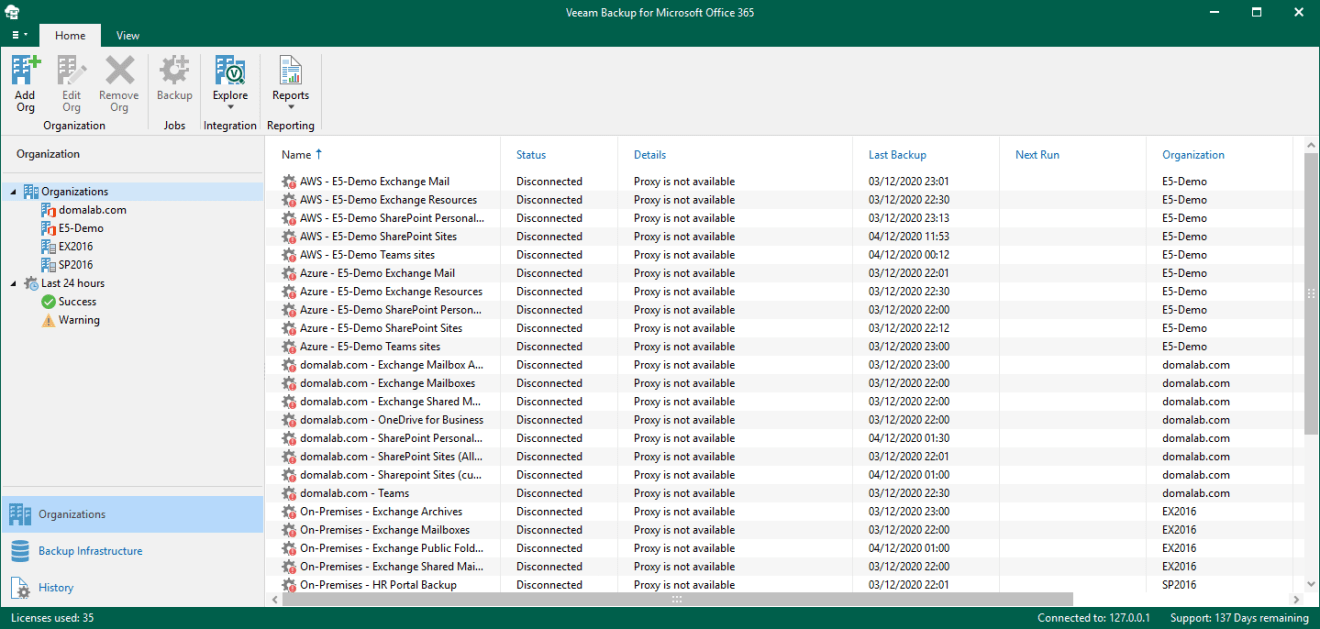 domalab.com Veeam VBO v5 upgrade