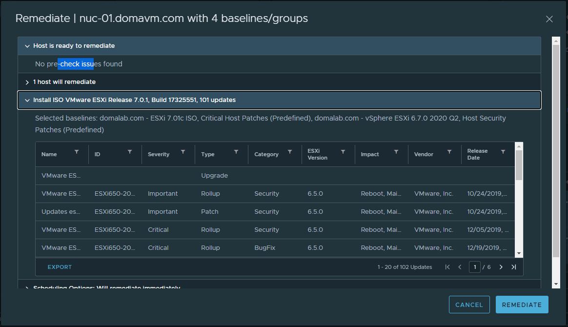 domalab.com VMware 7.0u1 upgrade