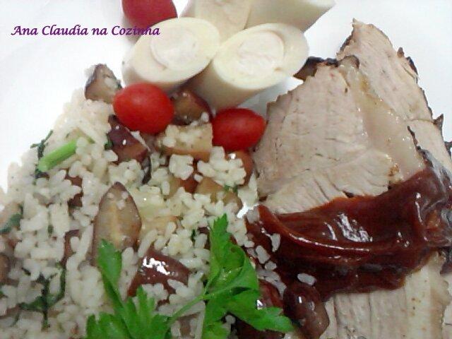 arroz com pinhão