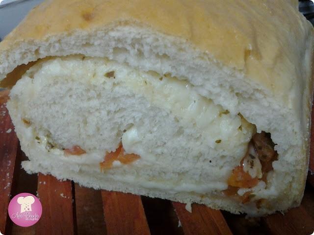 pão recheado caseiro