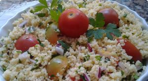 cuscus com mini tomates