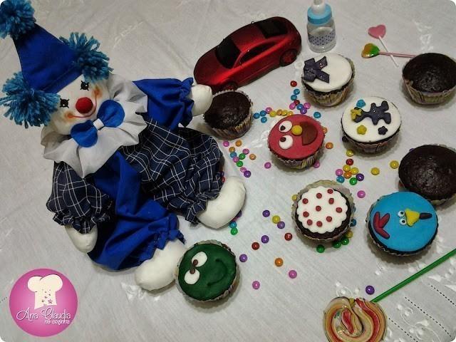 cupcakes divertidos de chocolate