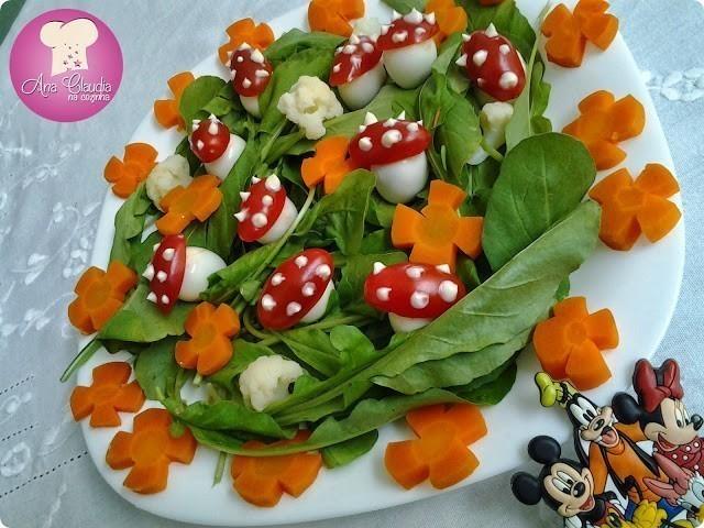 salada colorida divertida