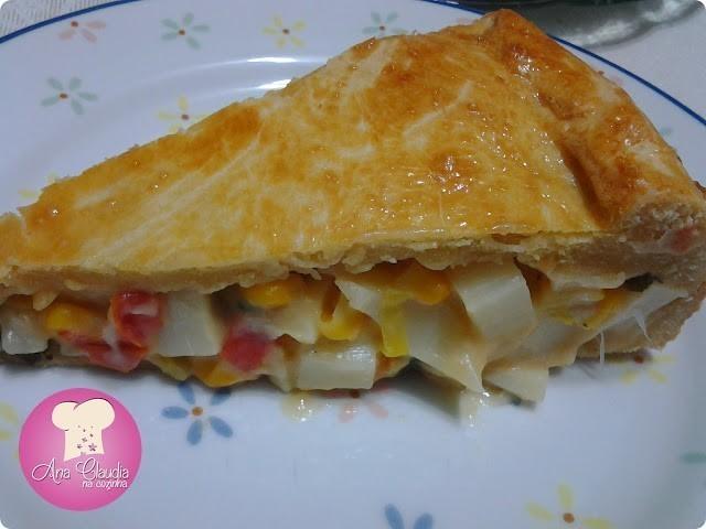 torta de palmito massa com guaraná