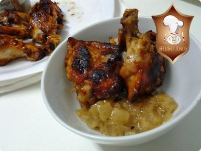 coxinha de asa de frango assada