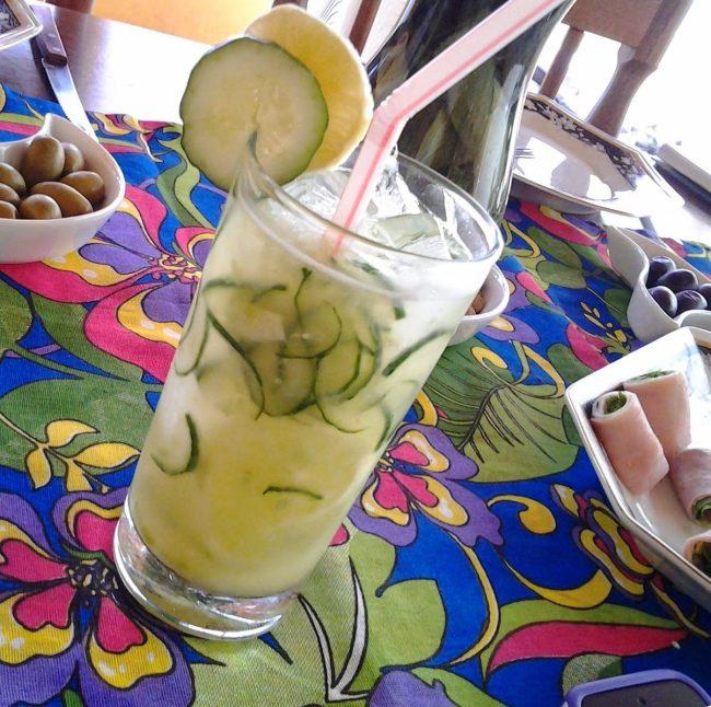 sakerita de limão e pepino