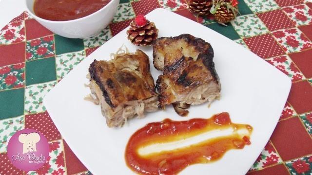 costelinha de porco com molho de goiabada