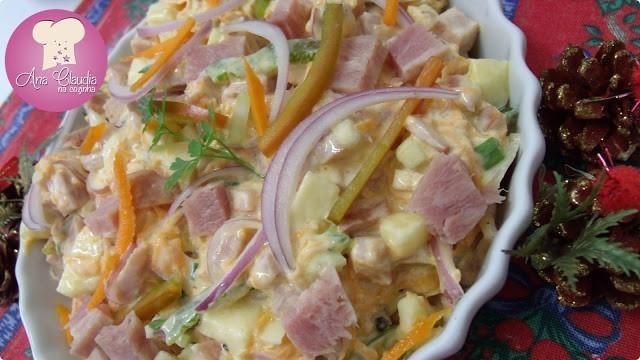 salada com tender, salpicão de tender, salada de natal
