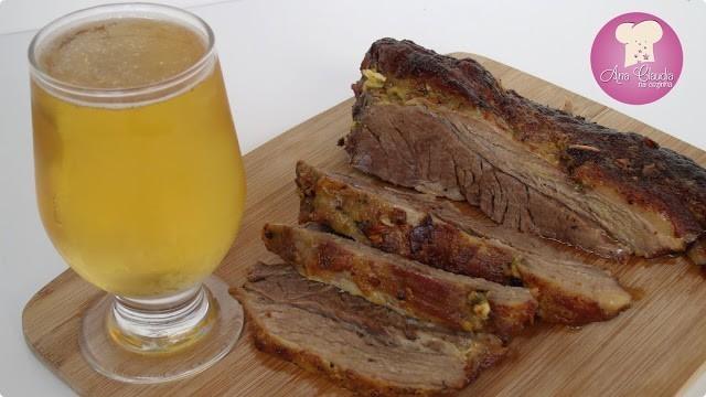 fraldinha assada com mostarda e manteiga dom manjericão