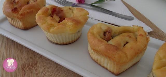 muffin com arroz pronto recheado
