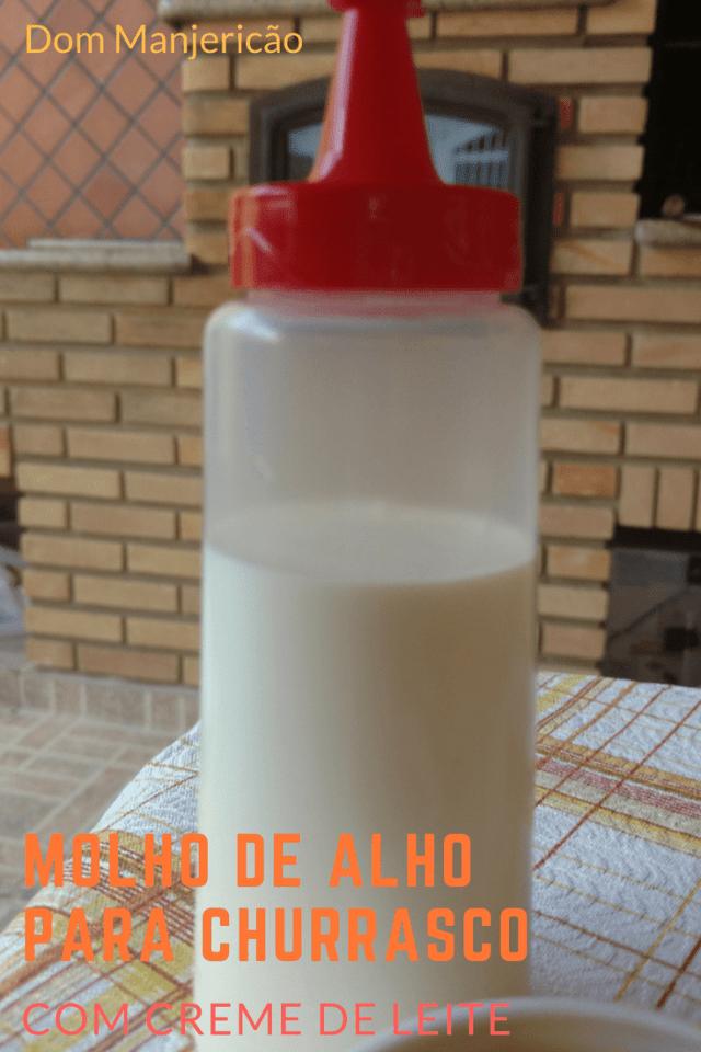 molho de alho para churrasco feito em casa a base de creme de leite