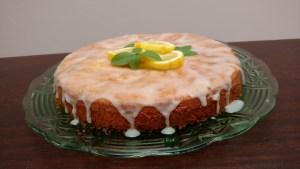 bolo de limão com manjericão fofinho