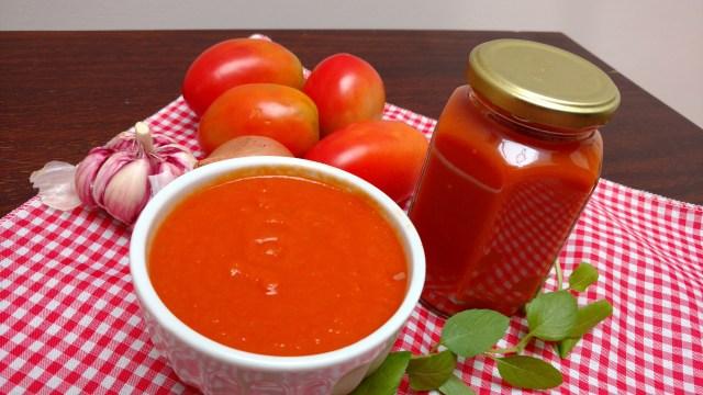 molho caseiro de tomate sem conservantes