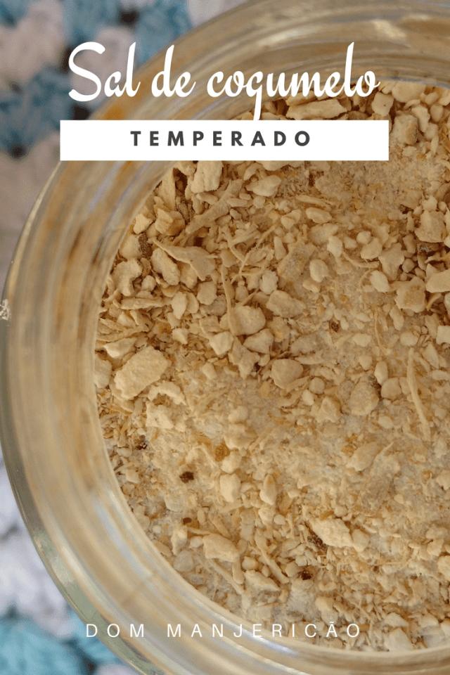 sal com cogumelo aromatizado